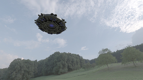 UFO - Flying Saucer Spacecraft - 3DOcean Item for Sale