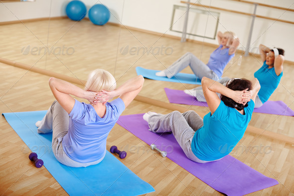 Strengthening belly muscles - Stock Photo - Images