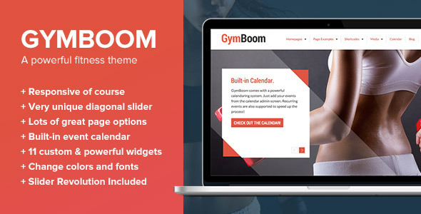 GymBoom – A Fitness/Gym WordPress Theme