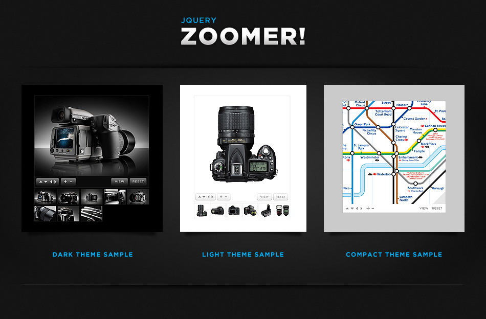 Zoomer jQuery Products Showcase - with Lightbox - Zoomer! Preview themes