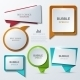 Modern Bubble Speech Icons Set - GraphicRiver Item for Sale