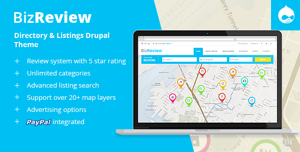 BizReview - Directory Listing Drupal Theme - Corporate Drupal