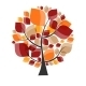 Beautiful Autumn Tree on a White Background Vector - GraphicRiver Item for Sale