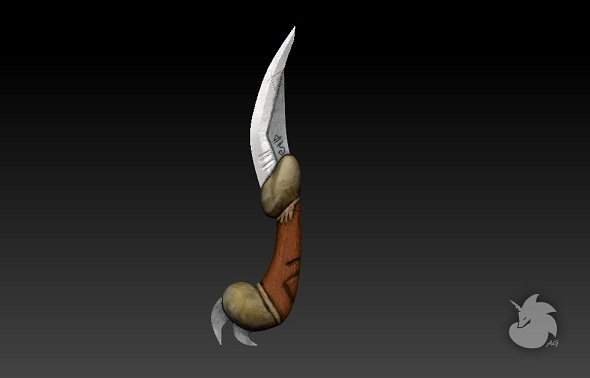 Warrior Knife high and low - 3DOcean Item for Sale
