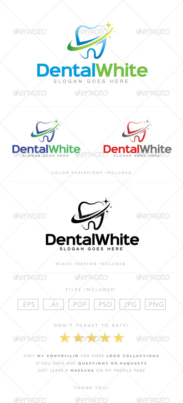 Dental White Logo - Objects Logo Templates