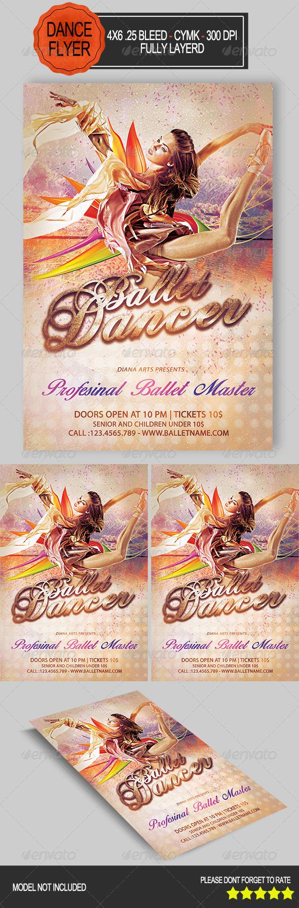 Ballet Dancer Flyer