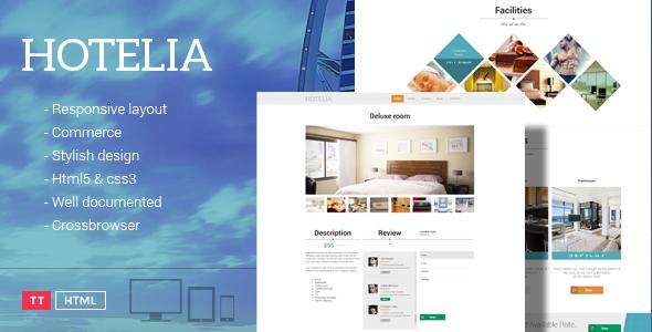 Hotelia - Responsive Hotel Theme