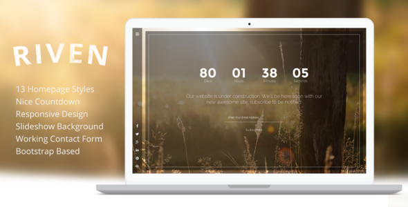 Riven – Responsive Coming Soon Template