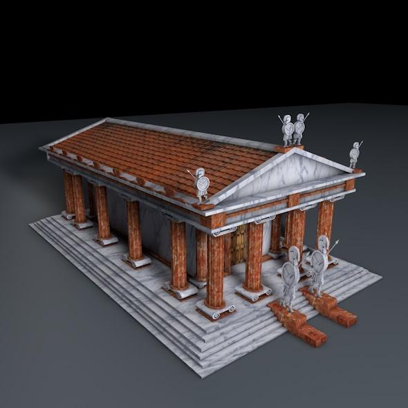Greek Temple - 3DOcean Item for Sale