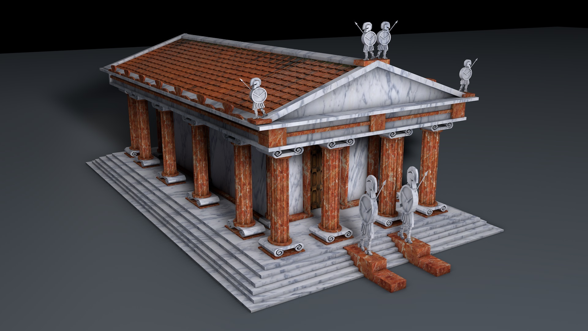 Greek Temple By Havolk 3docean