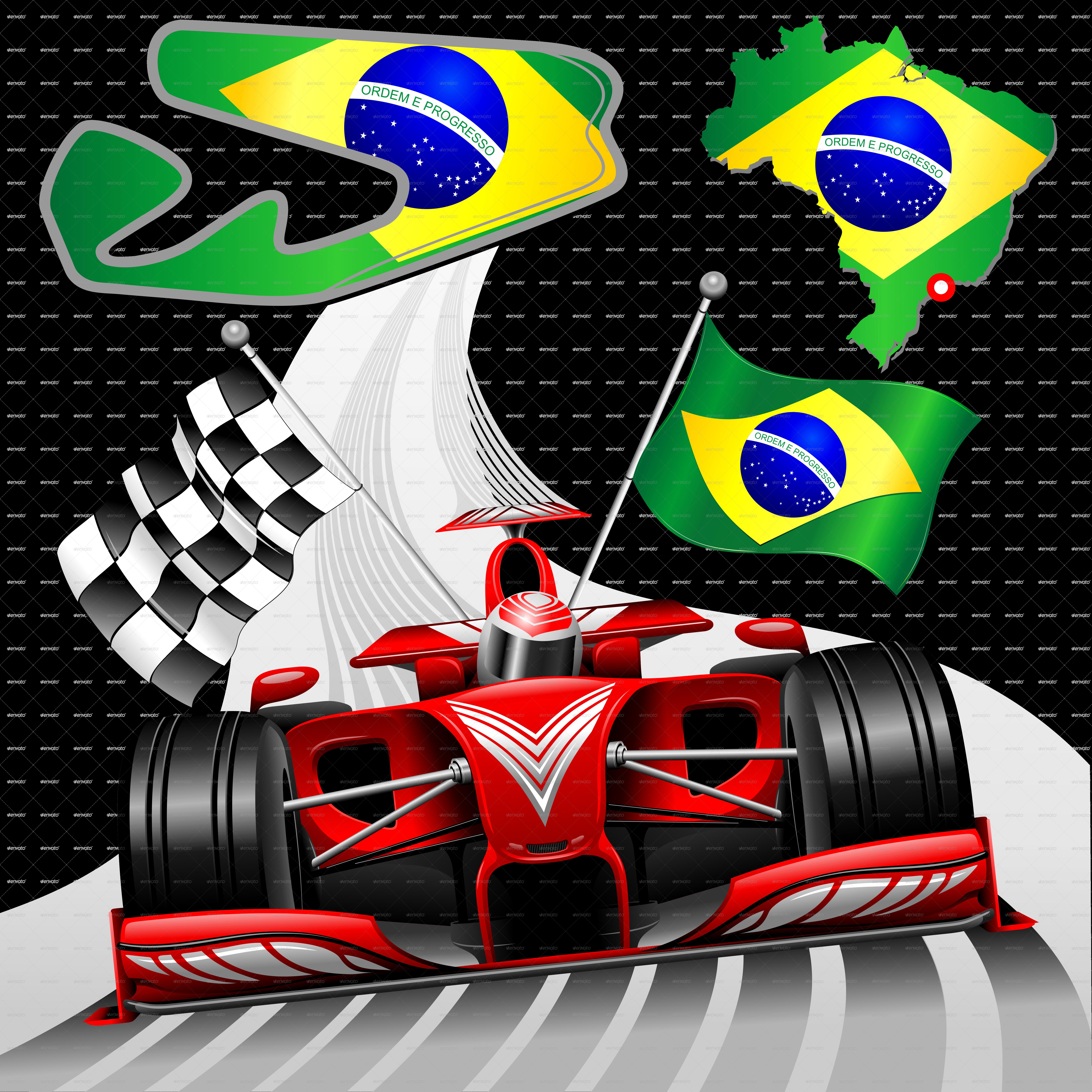 ... H Formula 1 GP Brazil Red Race Car PNG.png