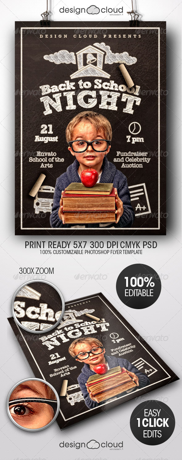 Back to School Night Flyer Template - Clubs & Parties Events