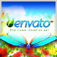 Logo Featuring Butterflies in Natural Environment - VideoHive Item for Sale