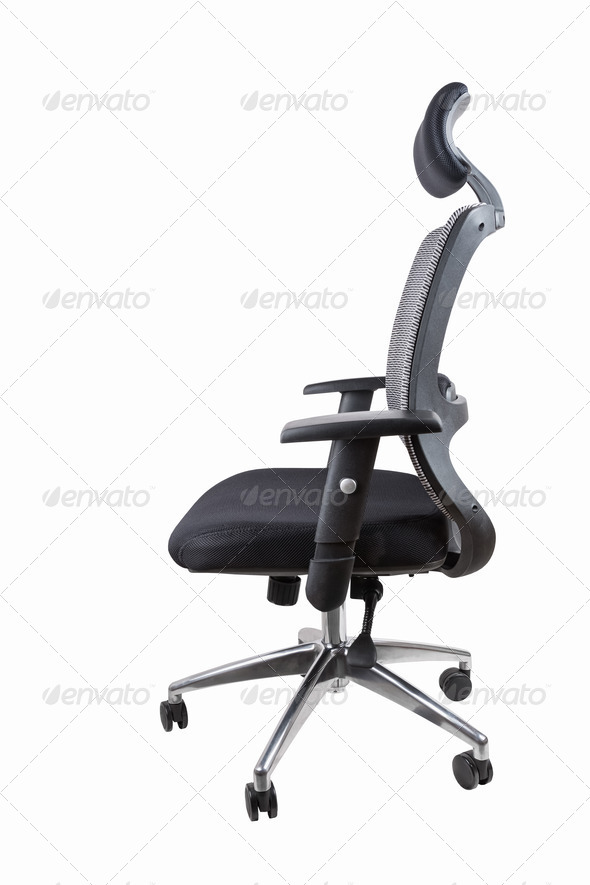 ergonomic office swivel chair isolated - Stock Photo - Images