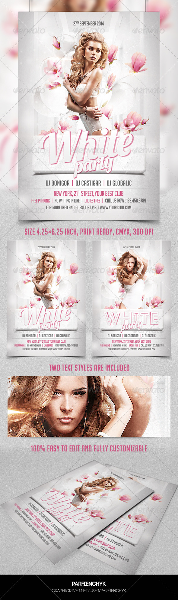 White Party Template - Clubs & Parties Events