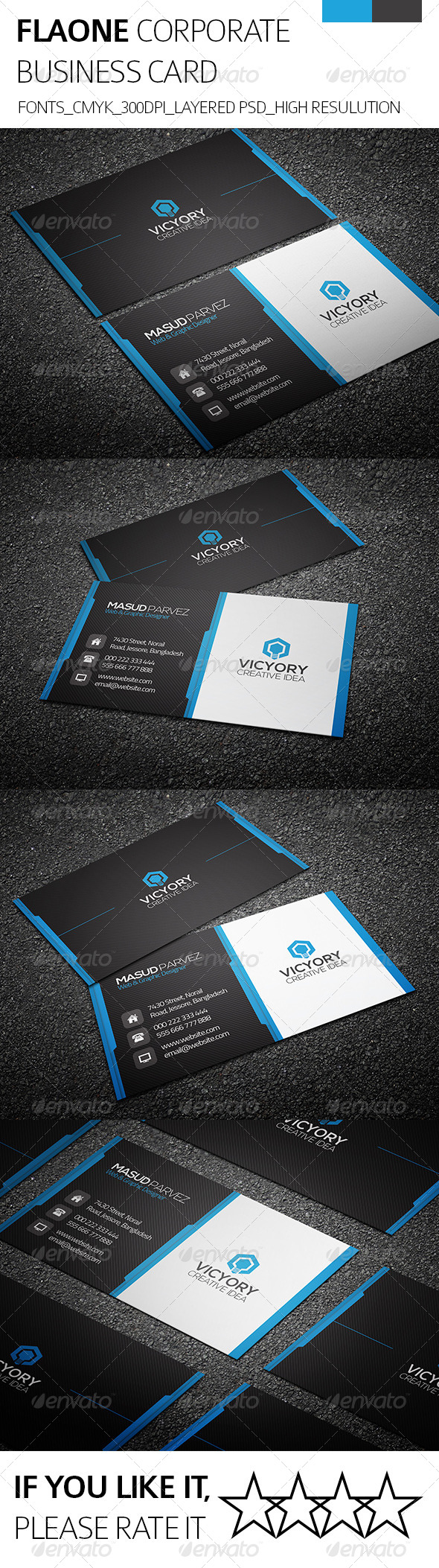 Flaone & Corporate Business Card - Corporate Business Cards
