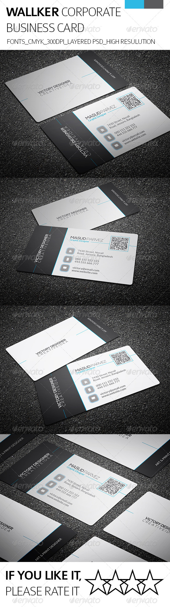 Wallker & Corporate Business Card - Corporate Business Cards