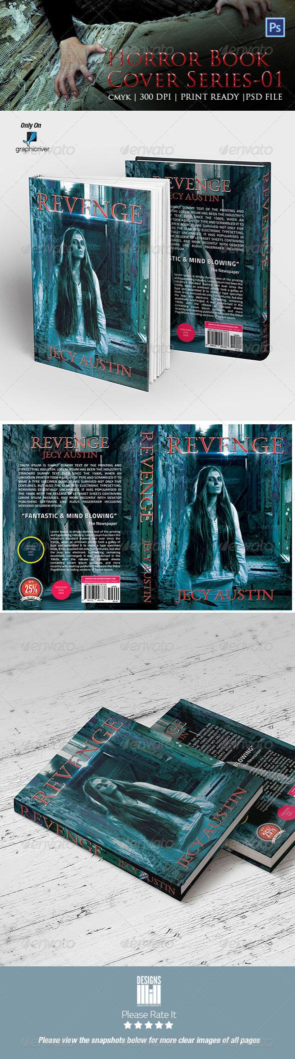 Horror Book Cover 01 - Miscellaneous Print Templates
