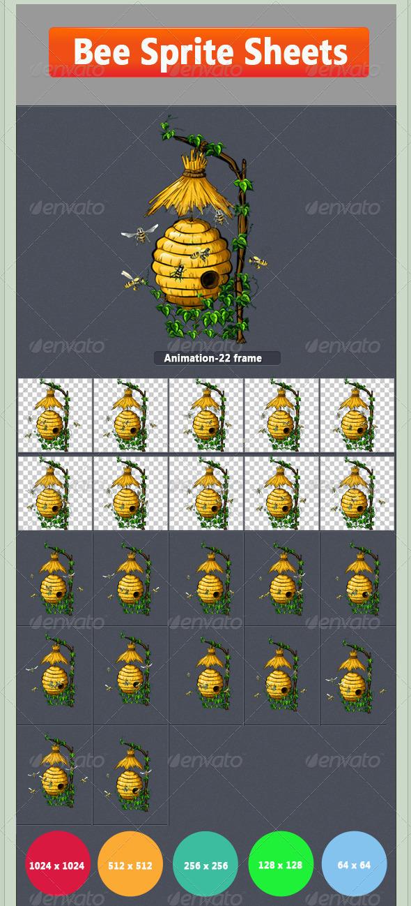Bee Sprite - Sprites Game Assets