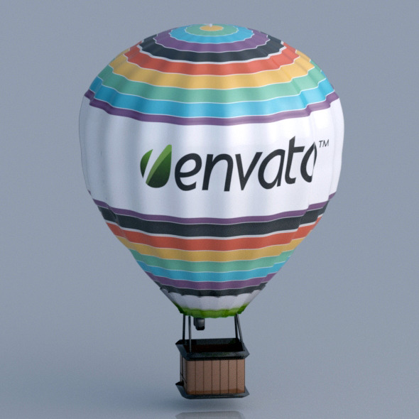 3D Air Balloon  - 3DOcean Item for Sale