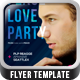 Peace Love Party Flyer Template - GraphicRiver Item for Sale