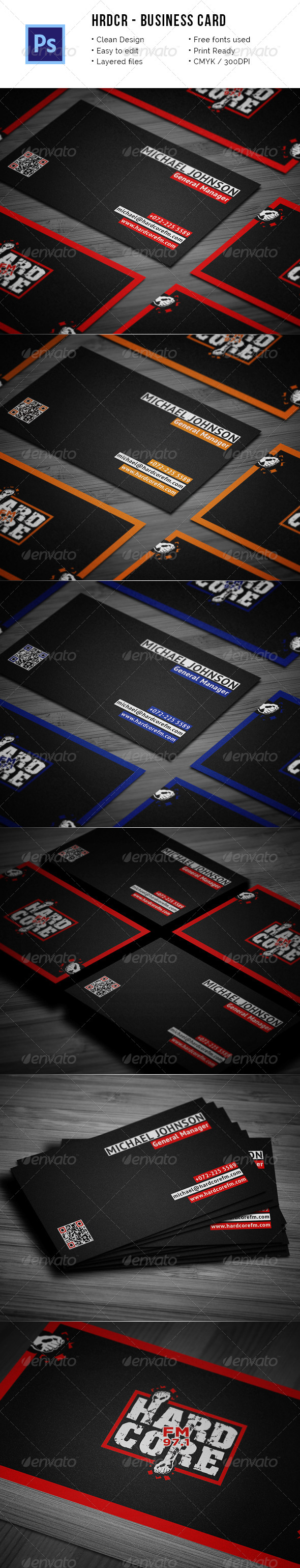 HRDCR Business Card - Creative Business Cards