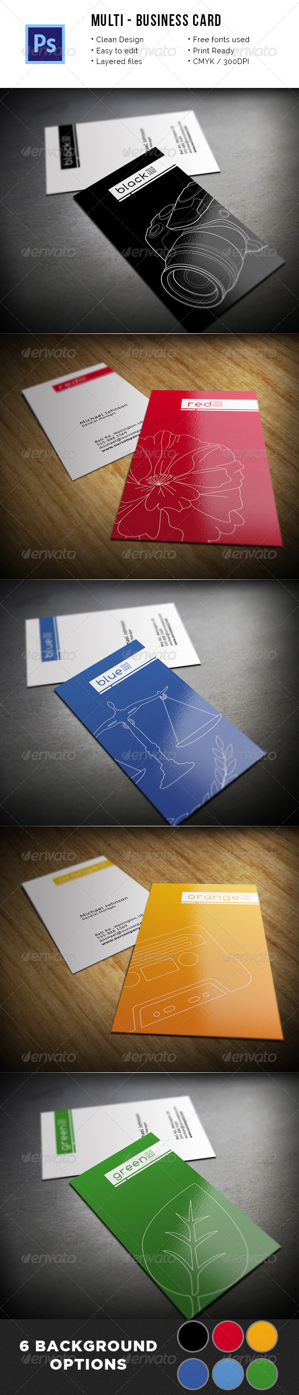 Multipurpose Clean Business Card - Creative Business Cards