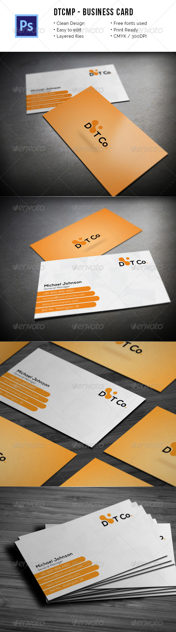 DtCmp - Simple Corporate Business Card - Corporate Business Cards