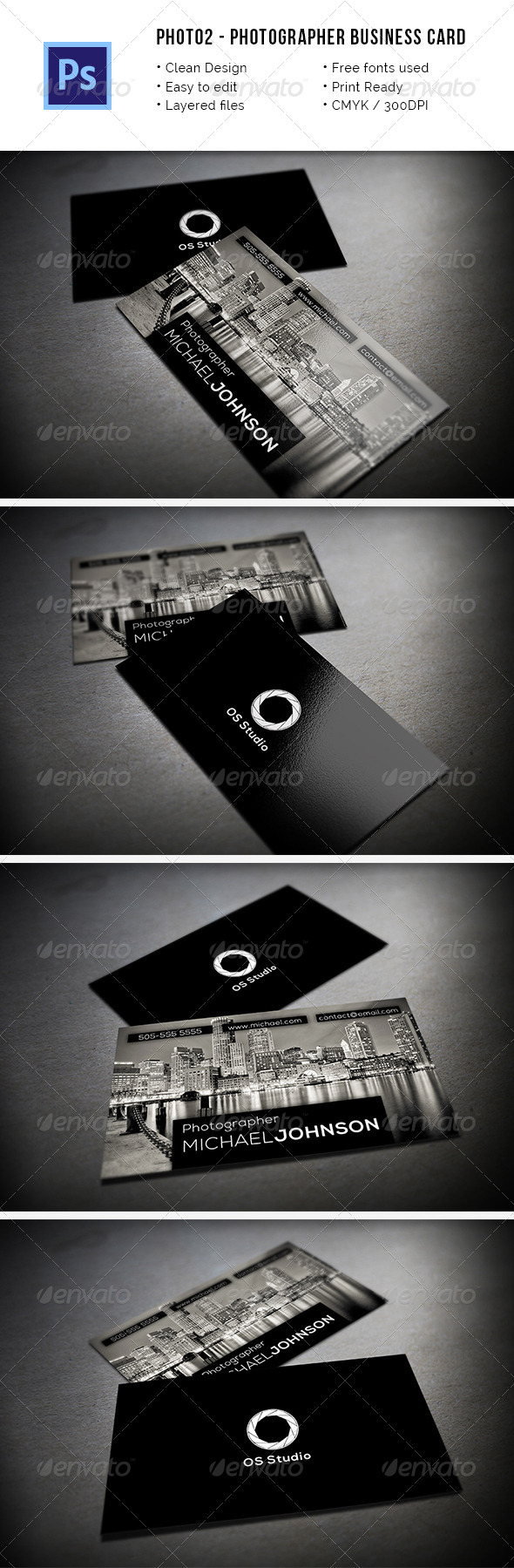 Photo2 - Photographer Business Card - Industry Specific Business Cards