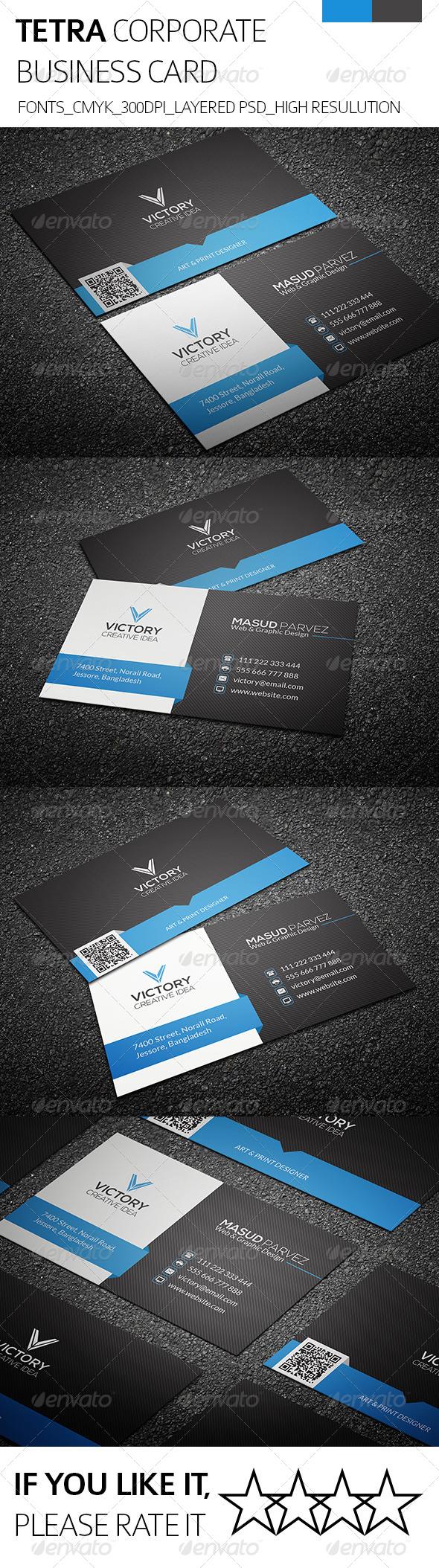Tetra & Corporate Business Card - Corporate Business Cards