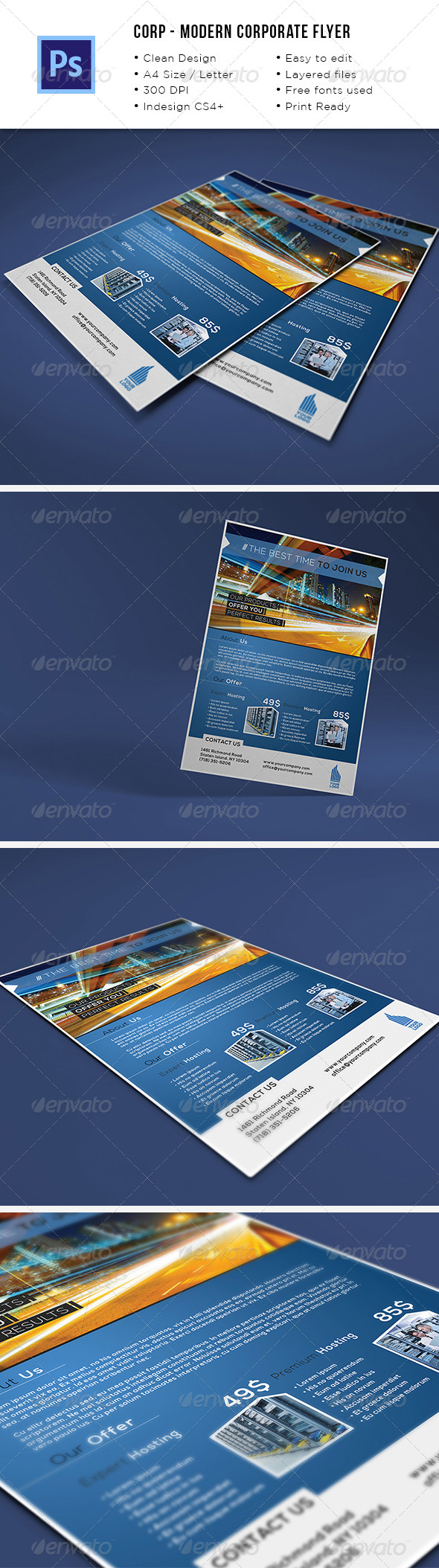 Modern Corporate A4/Letter Flyer - Corporate Flyers