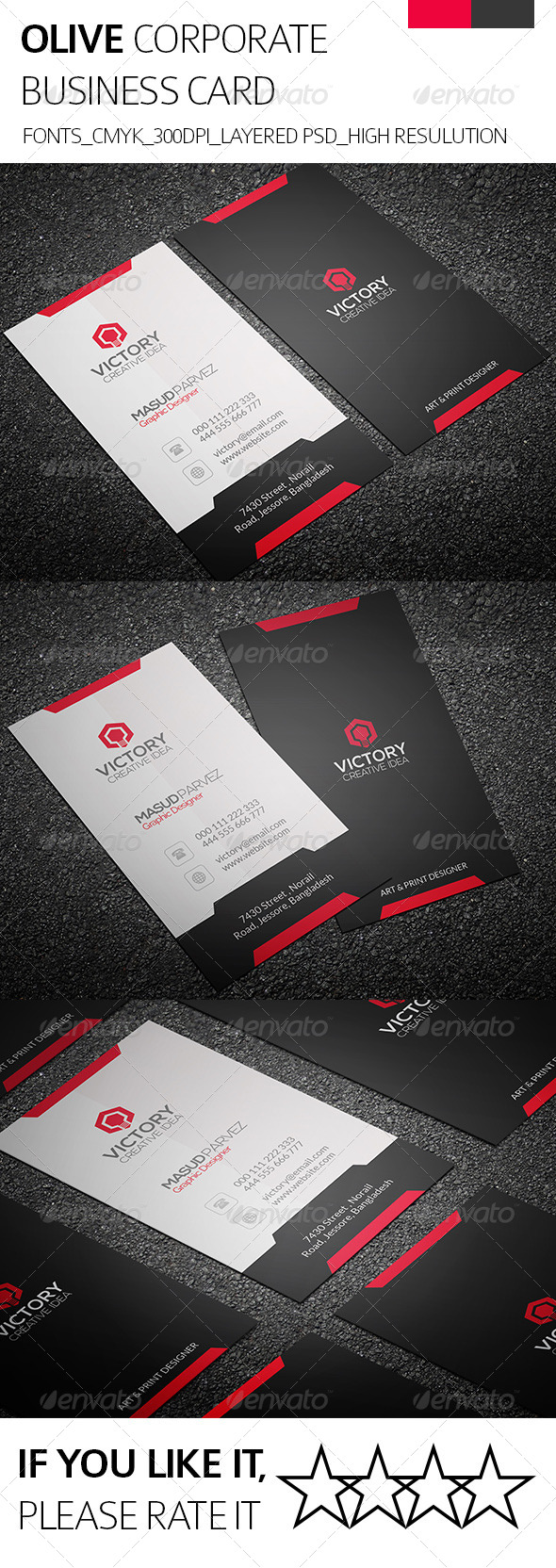 Olive & Corporate Business Card - Corporate Business Cards