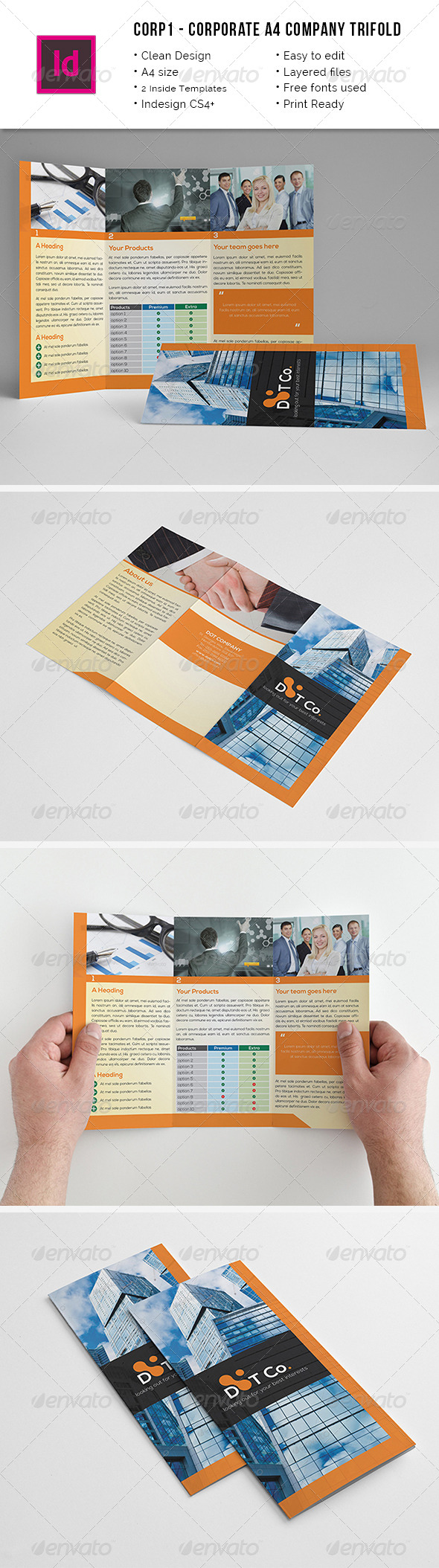 Corporate Trifold A4 Brochure - Corporate Brochures