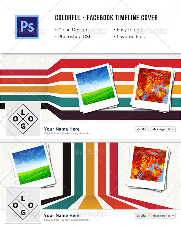 Colorful Facebook Timeline Cover - Facebook Timeline Covers Social Media