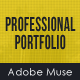 Professional Portfolio Muse Template - ThemeForest Item for Sale