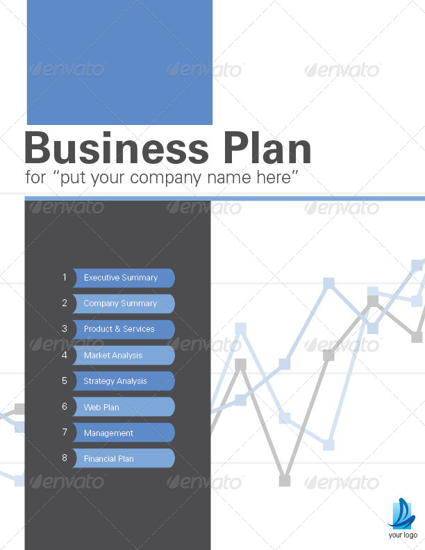 Pages Business Plan Template By Sthalassinos  Graphicriver