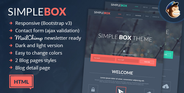 Simple Box – One Page Multi-Purpose HTML Theme