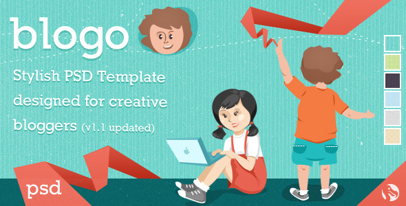 Free Download Blogo - Stylish PSD Template for Creative Bloggers Nulled Latest Version