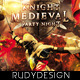 Knight Middle Ages Medieval Period Party Flyer - GraphicRiver Item for Sale