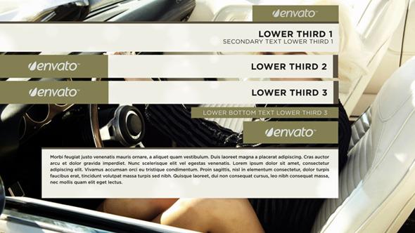 Videohive - Elegant Minimalist Lower Third 8390366