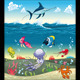 Under the Sea With Fish and Other Animals - GraphicRiver Item for Sale