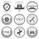 Car Service Auto Parts and Tools Icons - GraphicRiver Item for Sale