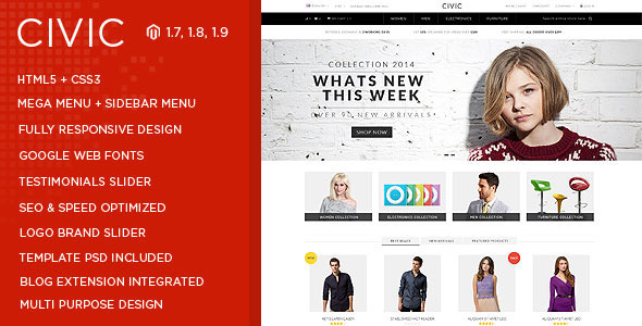 Civic - SUPER Flexible Responsive Magento Theme