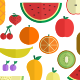 Fruits Flat Style Pack - GraphicRiver Item for Sale