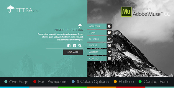 Tetra | Adobe Muse Template