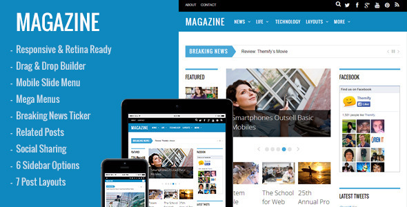Magazine – Responsive 3-Column WordPress Theme