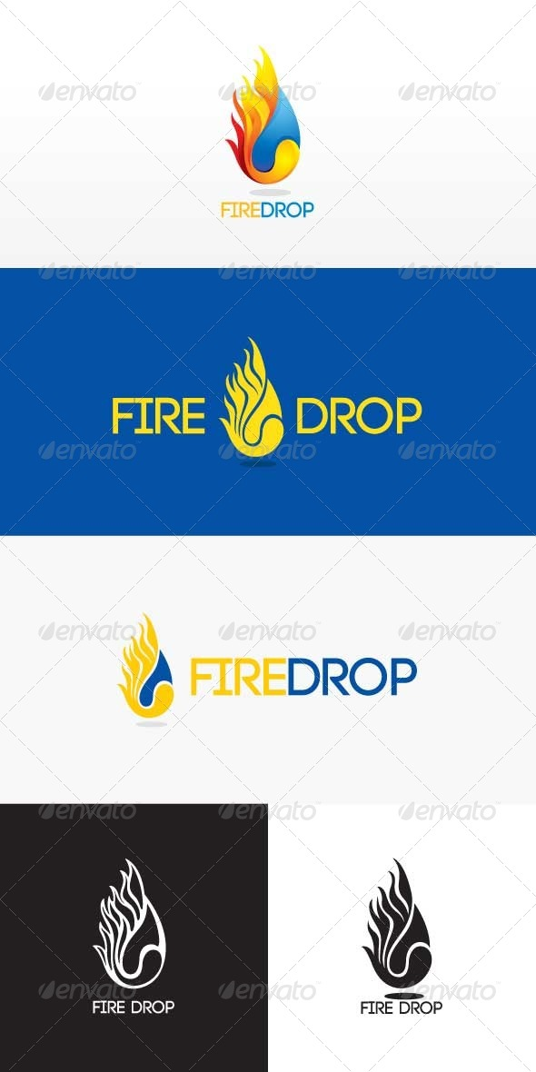 Fire Drop Stock logo Template