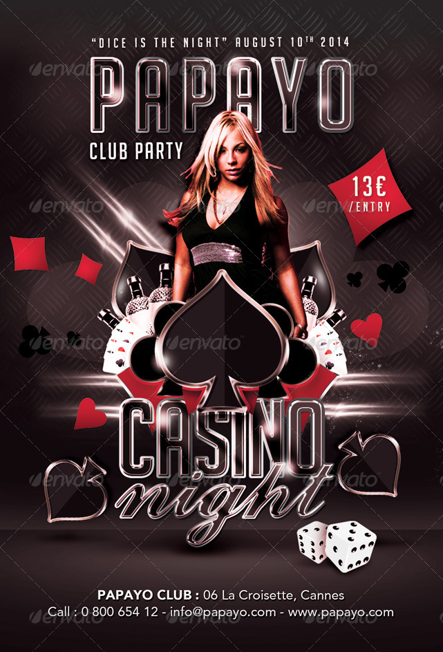 Dice Is Casino Night Club Party By N2n44 Graphicriver