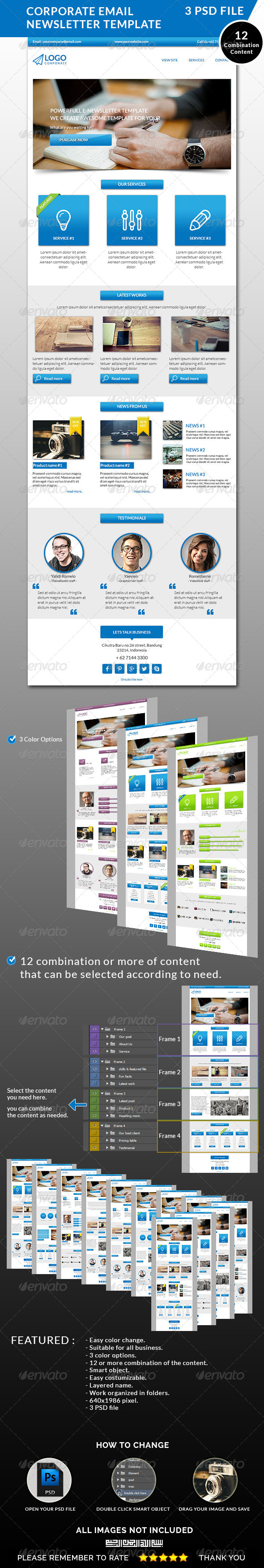 Email Template Corporate Graphics, Designs & Templates