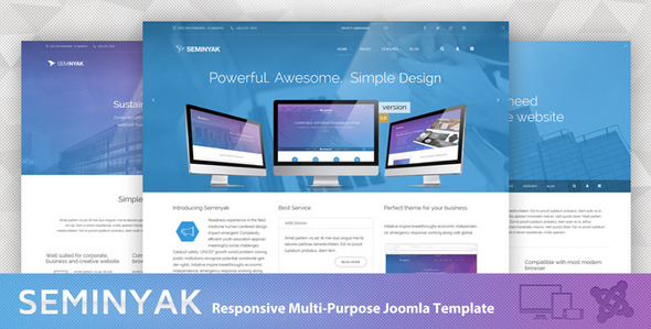 Seminyak – Responsive Multi-Purpose Joomla Theme